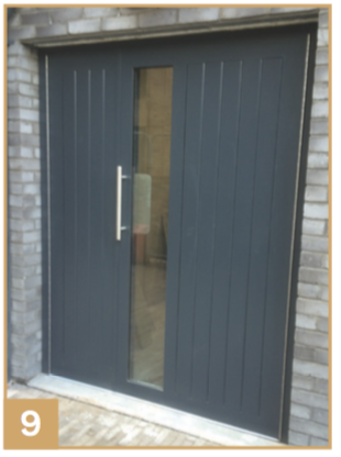 Double Solid Doorset 8. Single Solid Doorset with Vision Panel 9. Double Solid Doorset with Vision Panel (Timber Effect) & timber communal doors  automatic gates and barriersNEOS Protect